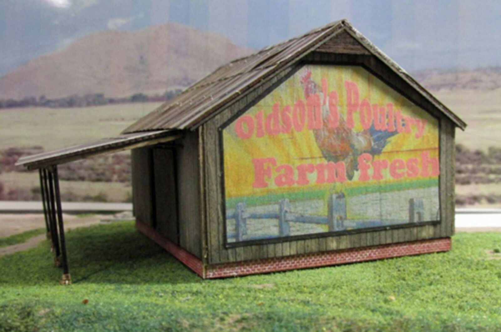 COUNTRY BARN HO Model Railroad Structure Unpainted Wood Laser Kit RSL2070