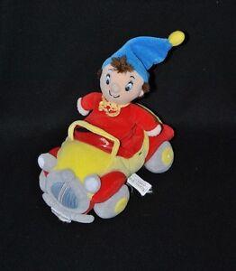 Peluche-doudou-Oui-Oui-dans-sa-voiture-TOMY-rouge-jaune-bleu-gris-21-cm-TTBE