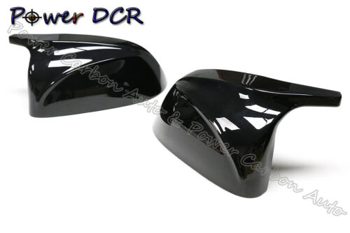 M Style Mirror Cover For BMW X3 G01 X4 G02 X5 G05 Glossy Black Replacement 2018+