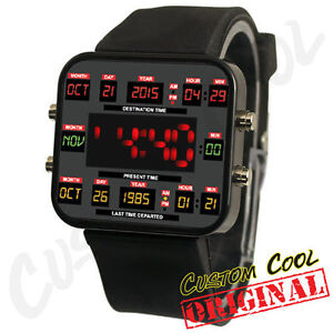 Back-to-the-80s-Retro-Future-Time-Circuit-Themed-Unisex-Geek-LED-Digital-Watch