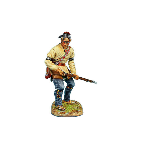 AWI082 Woodland Indian Standing Ready with Musket by First Legion