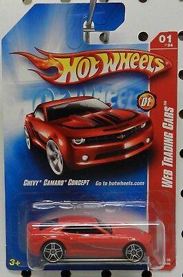 Enamel Red 2008 Hot Wheels CHEVY CAMARO CONCEPT #077 Web Trading Cars