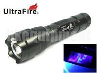 Ultrafire Wf-502b Uv 3w Led Ultraviolet 395nm Flashlight Torch