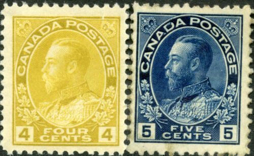 CANADA #110111 VF OG HR; #111 WITH MINOR TONING CV $172.50 BN2064