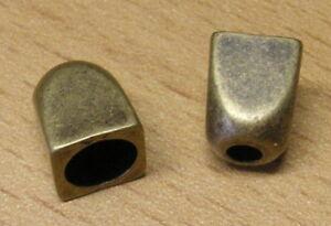 10x Kordelenden Metall//silber geriffelt