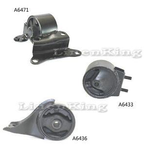 A6436 K0635 A6471 : A6434 ONNURI For 1995-1998 Mazda Protege 1.5L//1.8L Engine Motor /& Trans Mount Set 3PCS