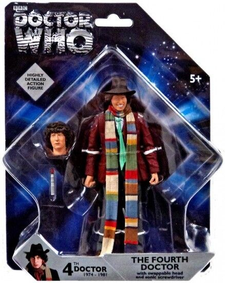 DOCTOR WHO 4TH DR FOURTH WITH SWAPPABLE HEAD FIGURE NEW NEW NEW SEALED MIB 8ff1af