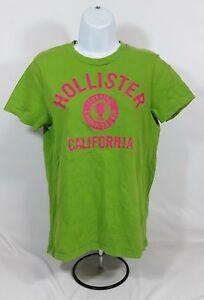 Women-039-s-Small-Green-and-Pink-Hollister-T-Shirt