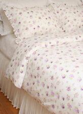 King Duvet Comforter Cover Set Elizabeth Lavender Purple Roses Cotton