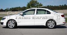 2011-2017 Volkswagen Jetta Sedan 4Pc Chrome Pillar Post Stainless Steel