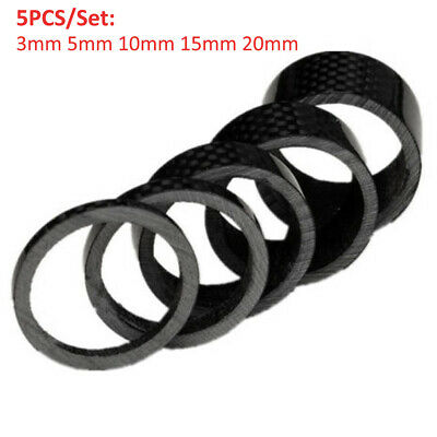 1Set Carbon Fiber Stem Washer Spacer Bicycle Bike Headset Fork 3//5//10//15//20mm FP