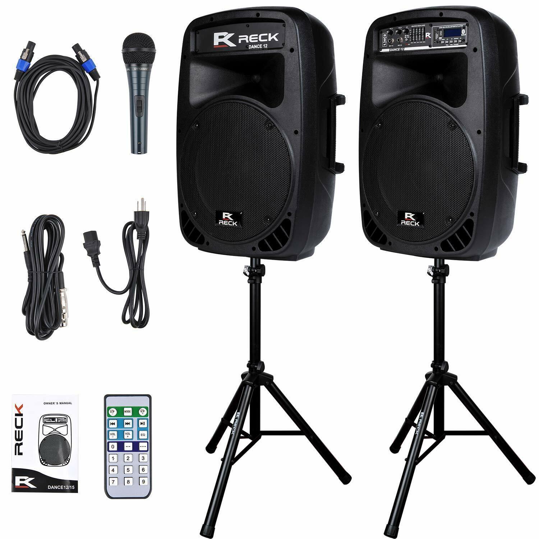 DJ Mobile PA Speaker System mit Blautooth 1000 Watts Peak
