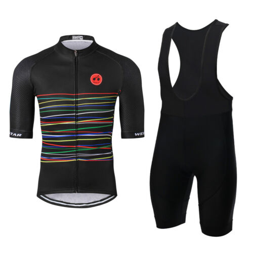 WEIMOSTAR Cycling Jersey Sets Half Sleeve Men Breathable Bike Clothing T-Shirt