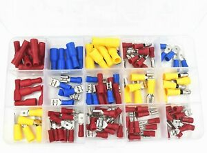 120pcs Insulated Terminal Assorted Set Electrical Wire Connectors Crimp Terminal