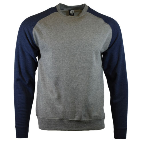Raglan BMX- MMA Metal Mulisha Men/'s Sweatshirt Blue//Gray Crew Neck