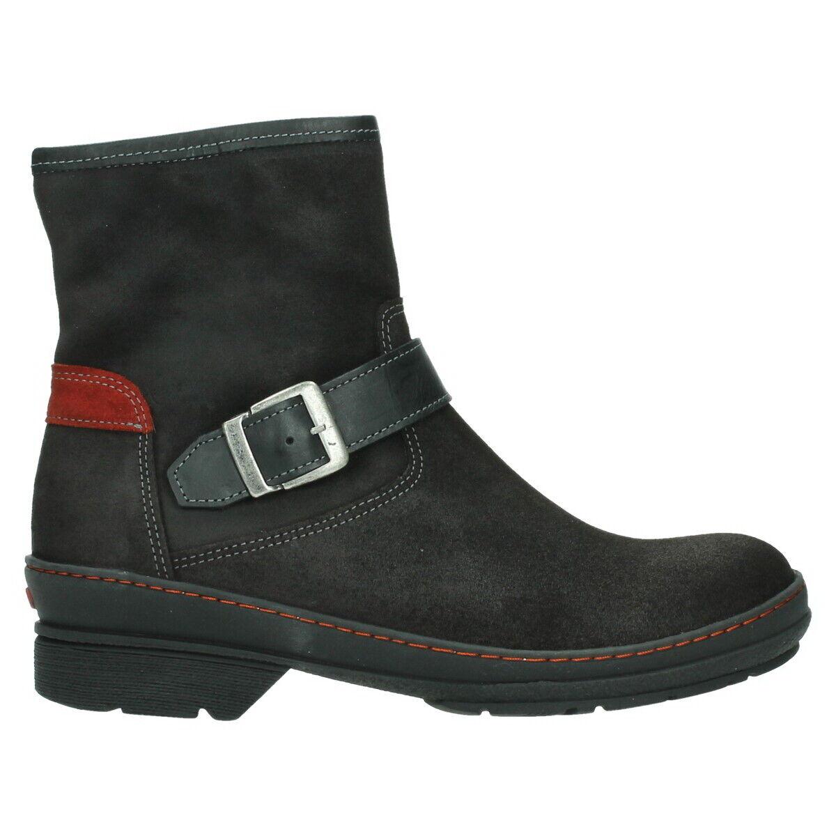 Wolky Stiefel Nitra Schwarz Nubuk Leder 07641 45000 Stiefel Reißverschluß