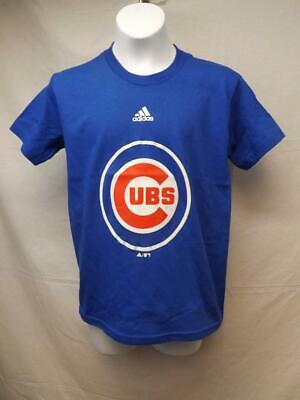 FäHig New-minor Fehler Chicago Cubs Adidas Jugendliche M 10/12 Blue Shirt Baseball & Softball Sport