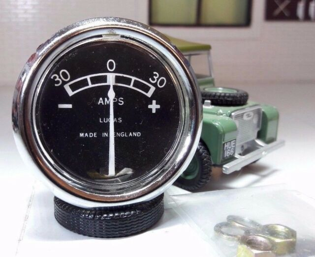 """Land Rover Series 1 2a 3 Durite Dash Panel 2/"""" Auxiliary Analogue Clock Gauge"""