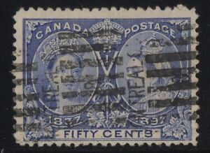 MOTON114-60-Jubilee-50c-Canada-used-well-centered