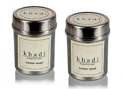 Khadi Natural Herbal Sandalwood Brighten&Radiant Look Face Pack 50GM (Set of 2)
