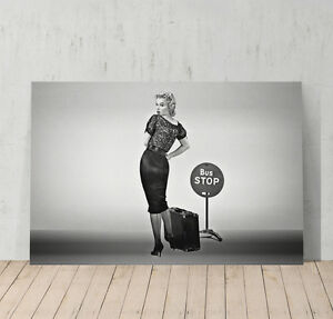 Marilyn Monroe Famous Bus Stop Poster Canvas Print Art Decor Wall