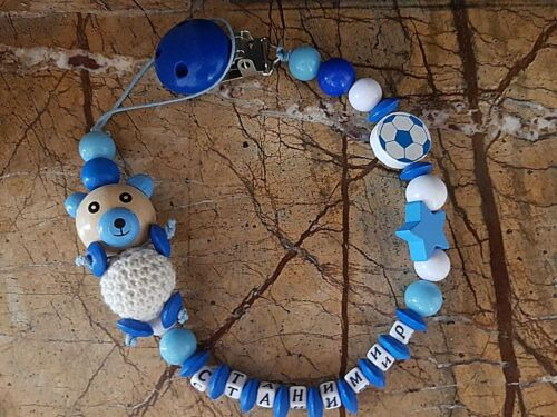 "Personalized Baby /""Name/""  Dummy Clip Pacifier Chain Binky Soother Holder"