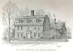 Vintage-1975-Dwight-Barnard-House-Art-Print-Goff-Office-Schrute-Deerfield-Mass