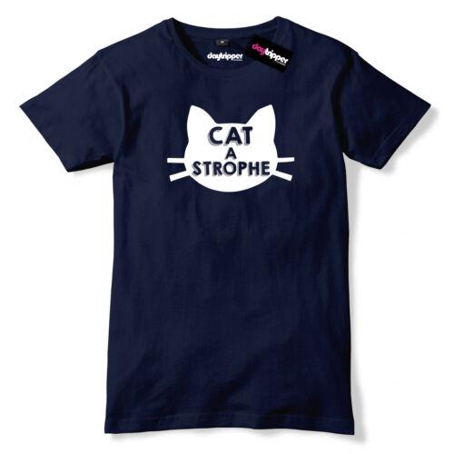 Catastrophe Mens Premium T-Shirt Funny Cat Slogan