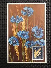 UNO NY MK 1954 FLORA WEIZEN GETREIDE KORNBLUME CEREALS MAXIMUM CARD MC CM a8132