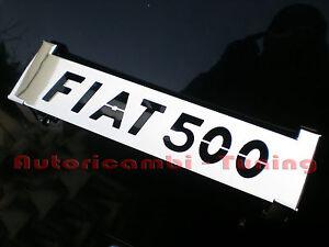 Griglia Alzacofano Posteriore in Acciaio Cromato per FIAT 500 F L R Epoca
