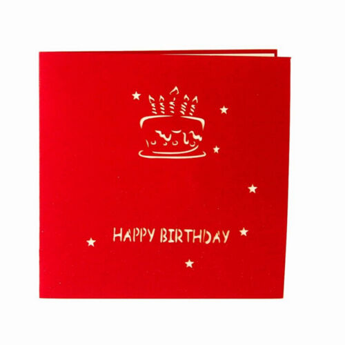 Up 3D Light Greeting Card Happy Birthday Music Postcard Blessing Gift HI