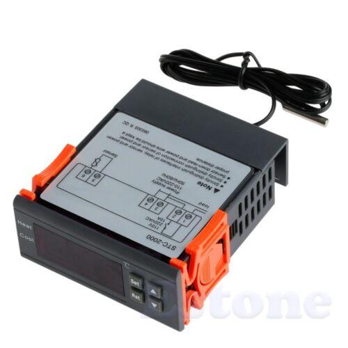 55~120℃ Digital Temperature Controller Thermocouple Sensor New STC-2000 220V