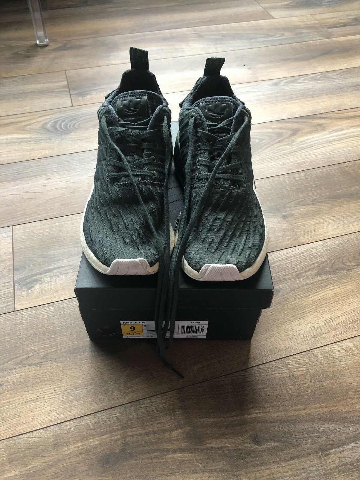 Adidas Originals NMD_R2 Women's Sneakers Trainers Size 9 Utility Ivy Trace Green
