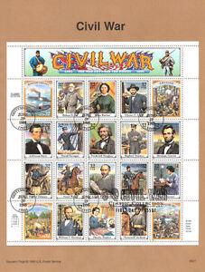 9527-32c-Civil-War-Stamps-MS20-2975-USPS-Souvenir-Page