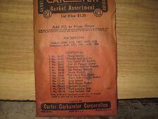 1938 Hudson or Terraplane Vintage N.O.S. Carburetor Gasket Kit