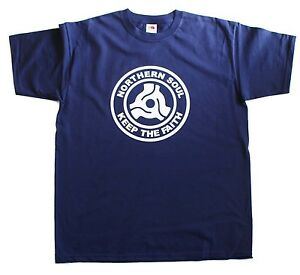 Northern-Soul-Record-Center-Keep-The-Faith-Mens-Loose-Fit-Cotton-T-Shirt