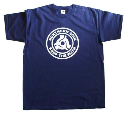Northern Soul Record Center Keep The Faith Mens Loose Fit Cotton T-Shirt