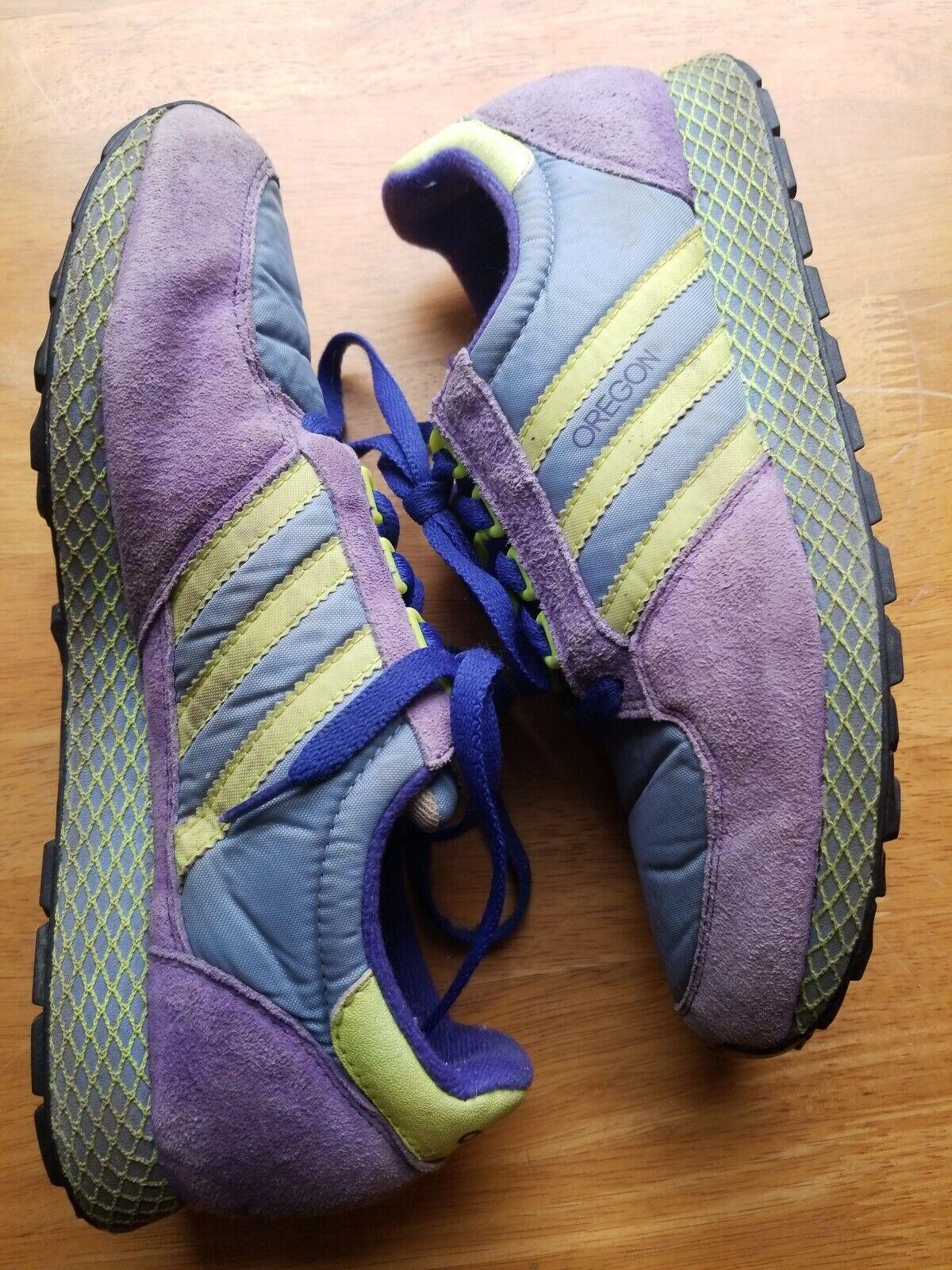 Adidas Vintage Running Running Running Walking shoes Oregon Purple Yellow bluee Womens 6.5 ab9559