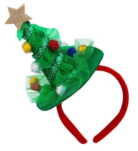 Elf Reindeer Tree Santa Snowman Hat Headband Christmas Party Dress Adults//Kids