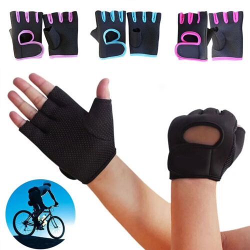 Men Women Workout Gym Half Finger Gloves Fitness Exercise Training Weightlifting