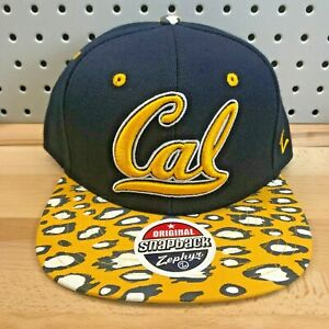 Cal-California-Golden-Bears-NCAA-College-Zephyr-Snapback-Cap-EUC-Hat-Leopard