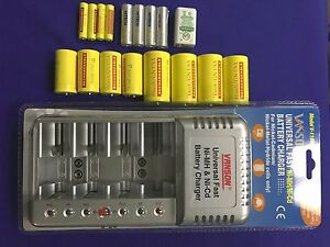 Universal-Battery-Charger-UL-17-Rechargeable-batteries-4AA-4AAA-4C-4D-9v-SALE