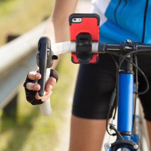 Iphone 5 5S se a prueba de golpes caso caso recubierto de goma con un montaje para Bicicleta Desmontable