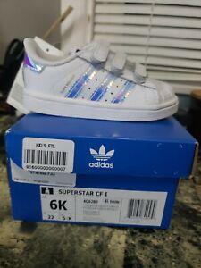 Adidas Superstar Cf I AQ6280 Toddler Sz 6   eBay