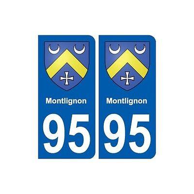 95 Montlignon Blason Autocollant Plaque Stickers Ville Arrondis
