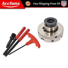 4 Jaw 4 Inch Self Centering Lathe Chuck Set With 1 Inch X 8tpi Thread