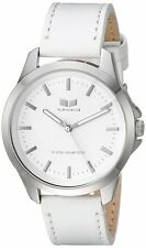 Vestal HER3L06 Womens Watch White Strap Heirloom Leather White Dial