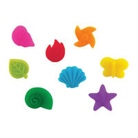 True Fabrications Silicone Party Wine Glass Charms / Drink Markers - Set Of 8