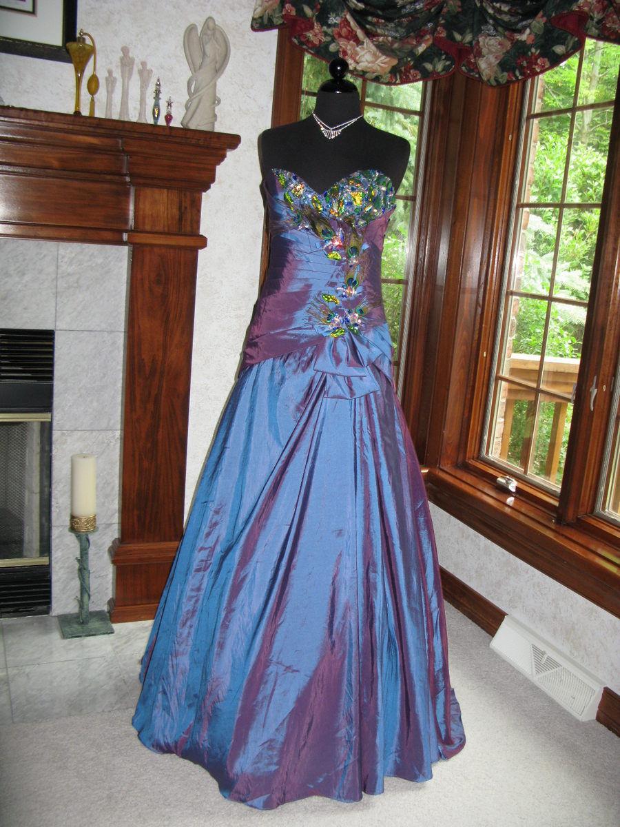 Precious Formals P55008 bluee Red Evening Gown Dress 0