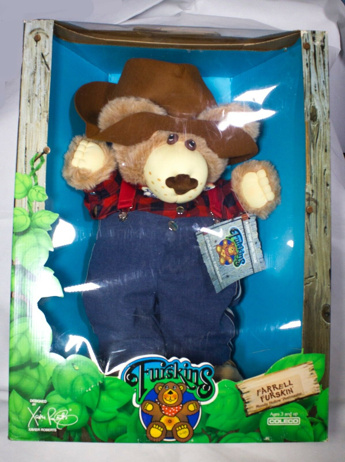 Farrell Furskin Moody Hollow Postmaster 22  Xavier Roberts 1986 Coleco NEW